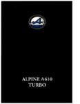 alpine-a610-1992-catalogue-brochure