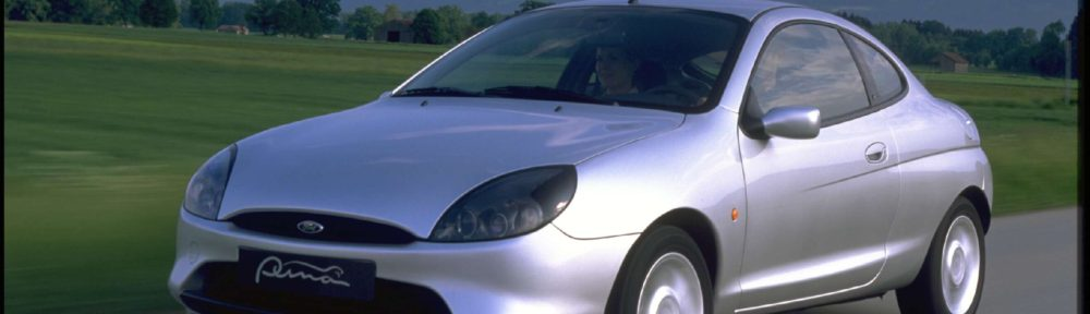 Ford Puma Hatchback 3dr viewed from the front in a Scenic setting.