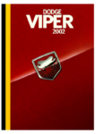 Dodge Viper 2002 Brochure USA