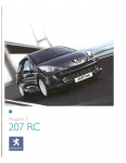 Peugeot 207 RC Catalogue Brochure 2007