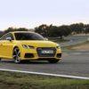 Standaufnahme    Farbe: Vegasgelb    Verbrauchsangaben Audi TTS:Kraftstoffverbrauch kombiniert in l/100 km: 7,1 - 7,1;CO2-Emission kombiniert in g/km: 164 - 164