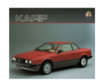 Maserati Karif Biturbo 1989 Allemagne Catalysée Brochure