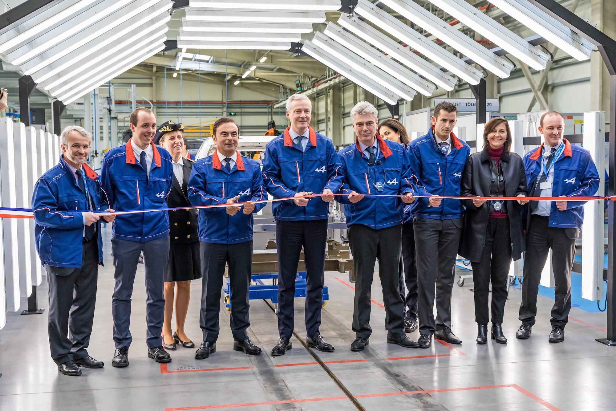 2017 - Inauguration de la ligne de production de l'Alpine A110 à l'usine de Dieppe