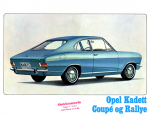 Opel Kadett B Coupé & Rallye 1967 Brochure Catalogue