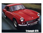 Triumph Spitfire GT6 mk1 1966 catalogue brochure