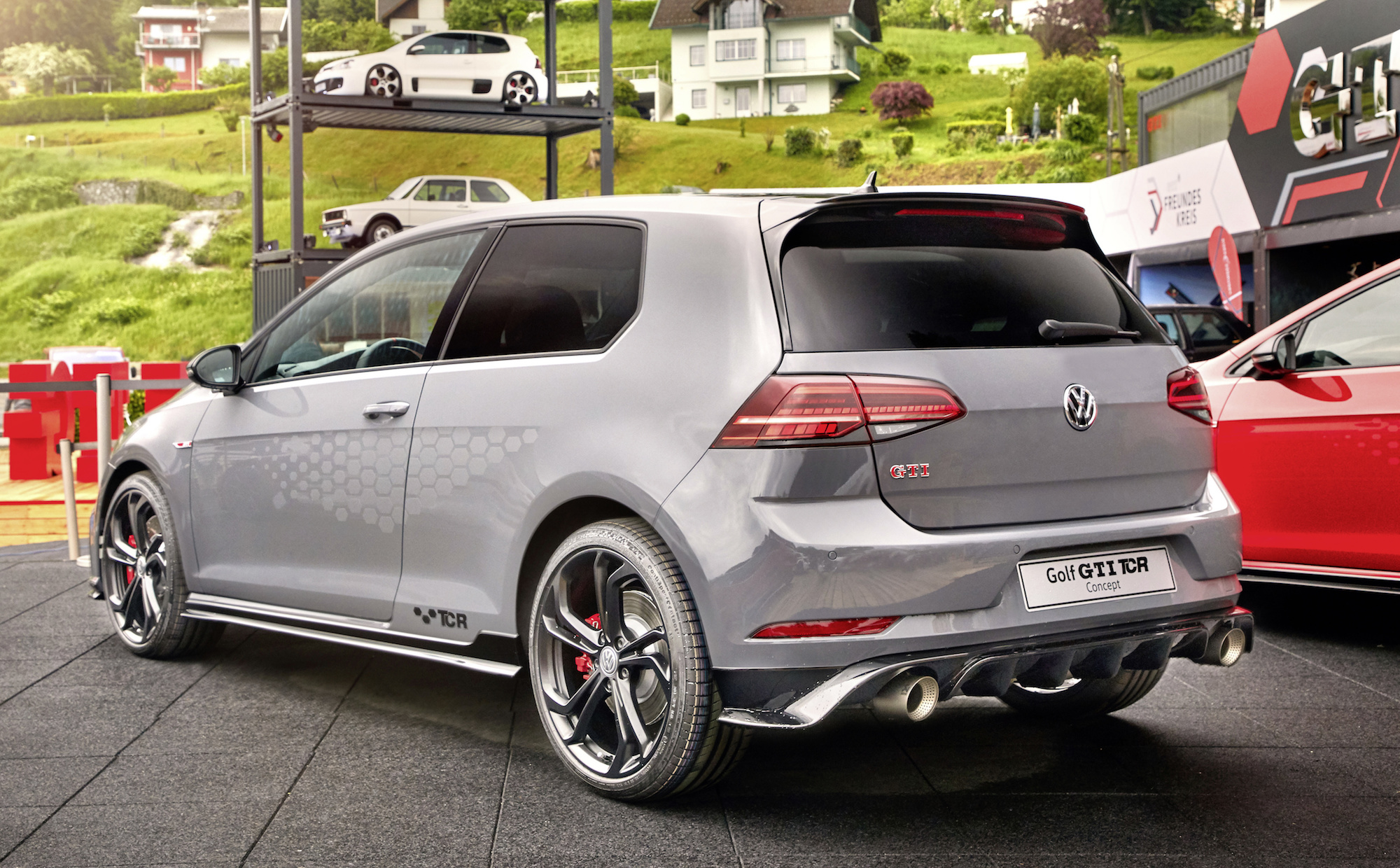 """German première of the Golf GTI TCR Concept at """"GTI Coming Home Wolfsburg 2018""""."""