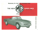 MGB Brochure Catalogue 1962