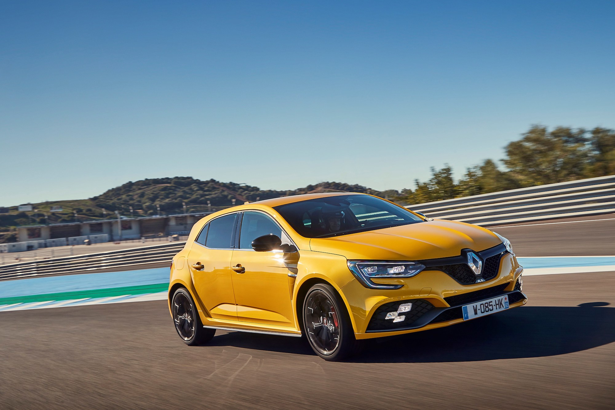 2018 - New Renault MEGANE R.S. Cup chassis tests drive in Spain