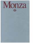 Opel Monza A1 – 1981 – Allemagne – Brochure