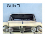 Alfa Romeo Giulia 1600 Ti Type 105 Brochure Catalogue
