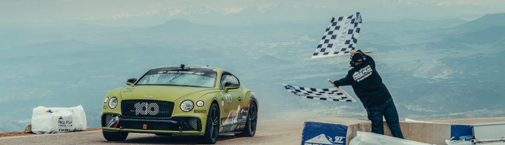 La nouvelle Bentley Continental GT bat un record à la célèbre course de côte Pikes Peak International Hill Climb