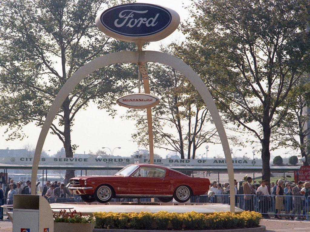 La Ford Mustang au New York World's Fair (1964)