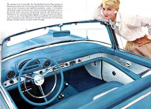 pare brise panoramique Ford Thunderbird