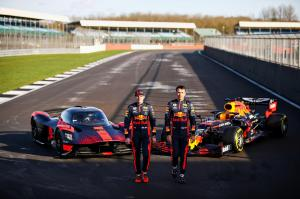 Aston Martin Valkyrie and Aston Martin Red Bull Racing RB16 joined by Max Verstappen and  Alex Albon (2)