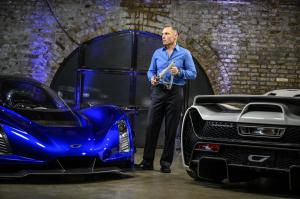 8. CEO and Founder Kevin Czinger at worldwide reveal in London, UK close up of cars