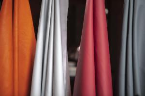McLaren GT samples of semi-aniline leathers