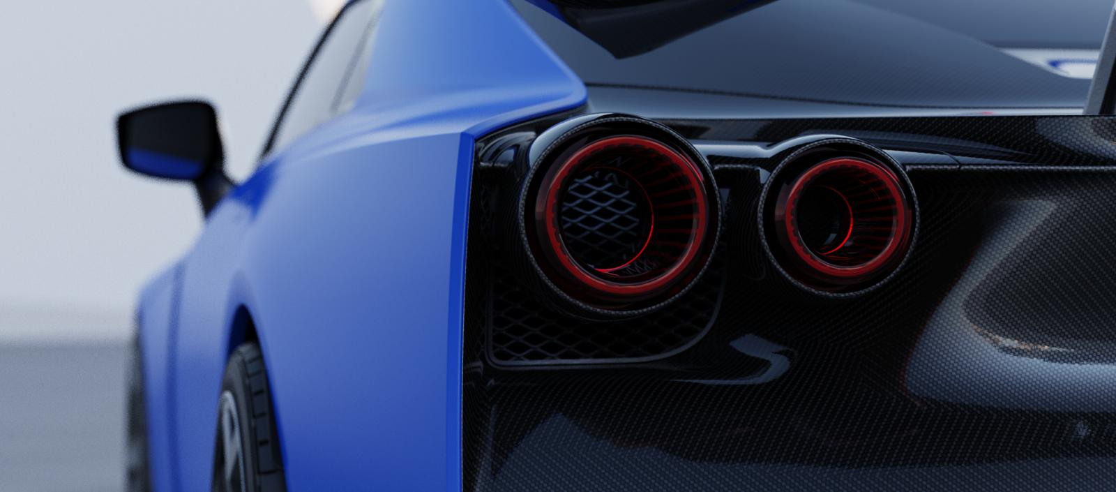 Nissan GT-R50 by Italdesign production rendering Blue RR LAMP
