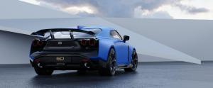 Nissan GT-R50 by Italdesign production rendering Blue RR