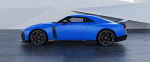 Nissan GT-R50 by Italdesign production rendering Blue SIDE