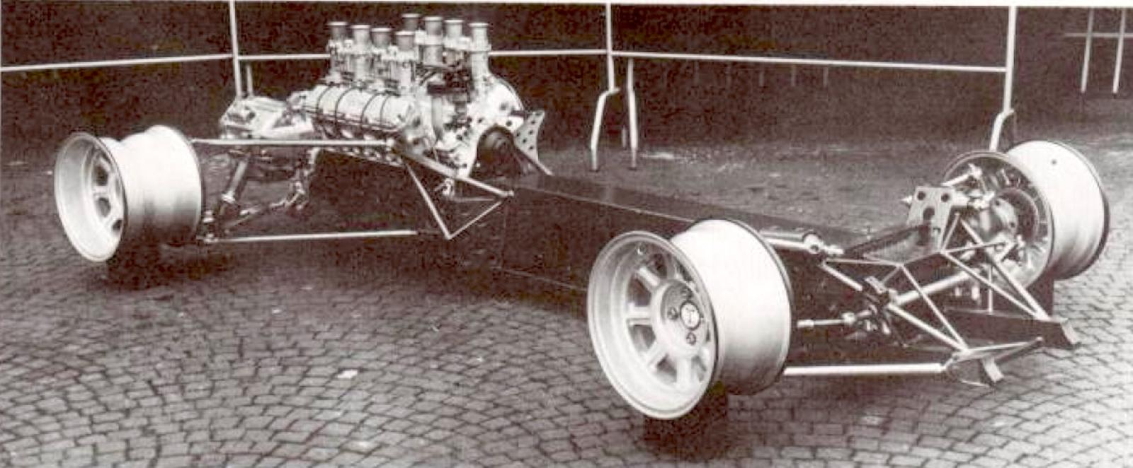 De Tomaso P70 chassis at Turin Motor Show in November 1965